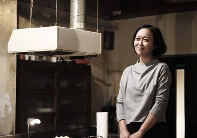 川口明子さん/「小屋カフェ 日と月と」