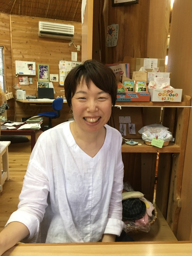 "Chie Sagara / Staff of the non-profit ""Jagaimo no Ouchi"" (literally ""House of the Potato"")"