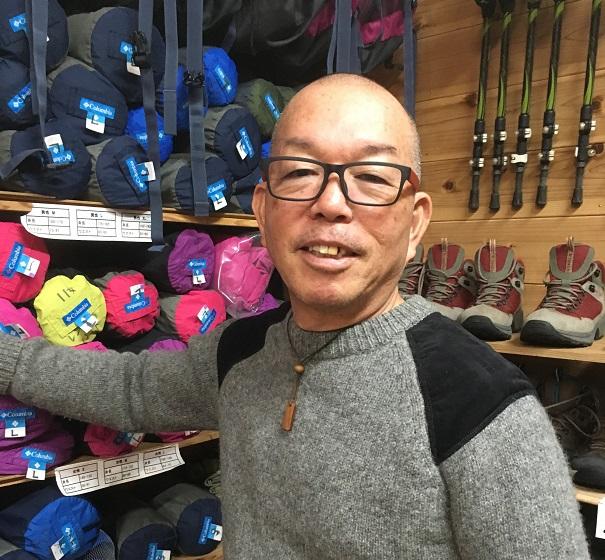 """Toshimasa Yamashita / Owner of """"Rental Yamashita"""" (specializing in mountaineering equipment and river kayaks)"""